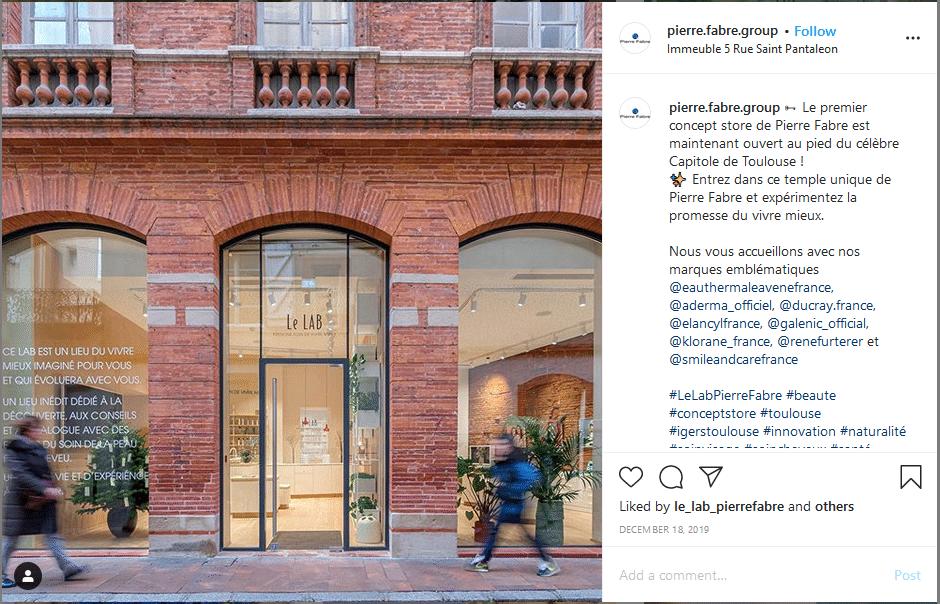 publication instagram pierre fabre lab