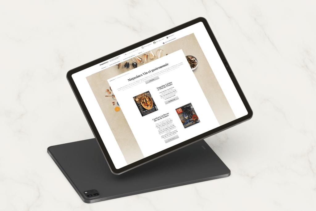 Refonte site Magazines.fr_Page Vin et Gastronomie