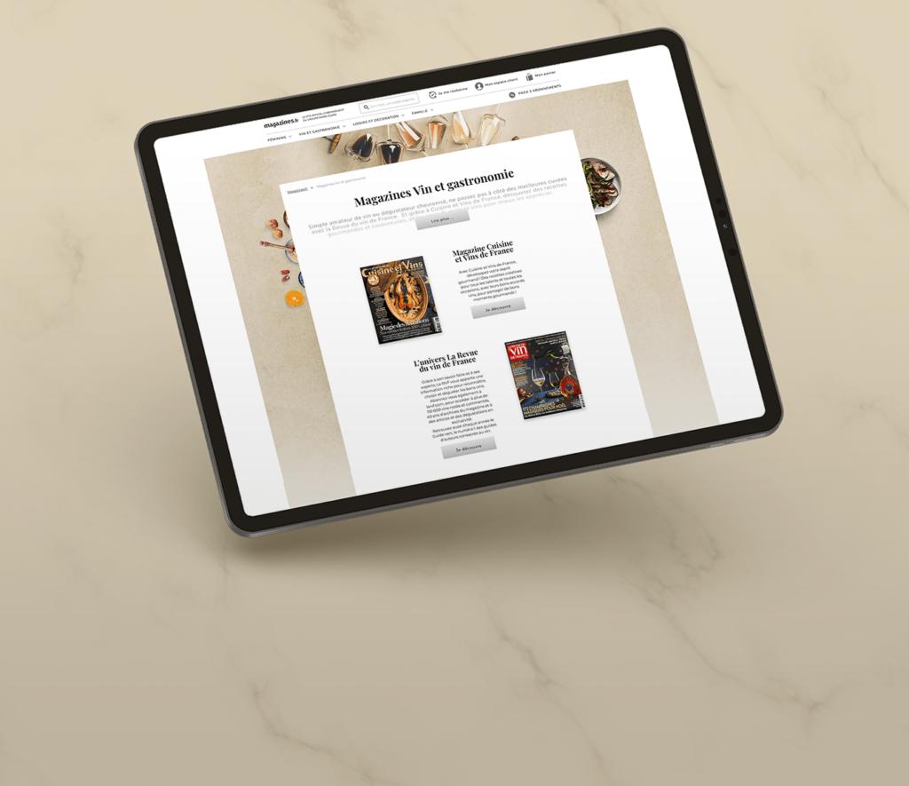 Refonte site magazines.fr Wondercrush